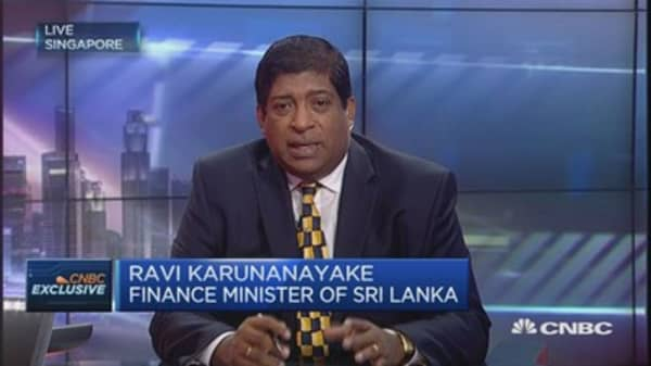 Sri Lankan Fin Min: 'Extremely happy' with economy