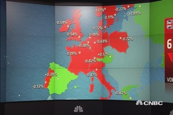Europe shares close lower; HSBC cuts in focus