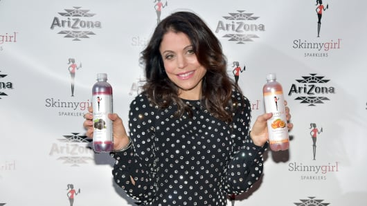 Bethenny Frankel hosts Arizona Beverages SkinnyGirl Sparklers' new flavor launch party on Jan. 20, 2015, in New York City.