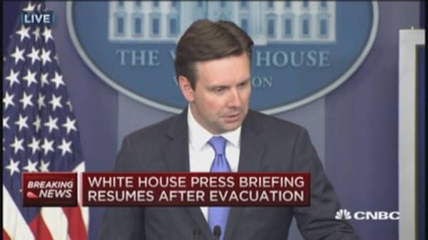 Josh Earnest on White House evacuation