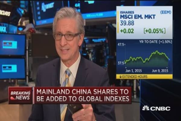 Mainland China shares to be added to global indexes