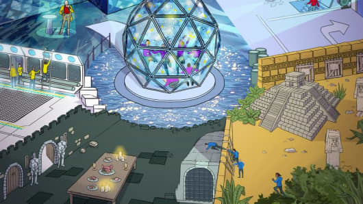 Artist's impression of what the live action Crystal Maze will look like