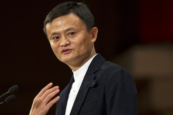 Jack Ma, of Alibaba Group, addresses the Economic Club of New York at the Waldorf Astoria Hotel in New York, June 9, 2015.
