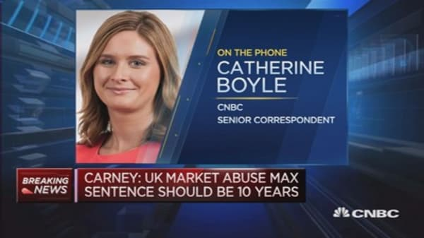 Mark Carney to talk tough on market abuse