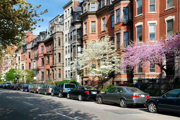Brownstones in Back Bay, Boston