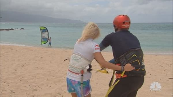 Learning to Kiteboard from a Pro
