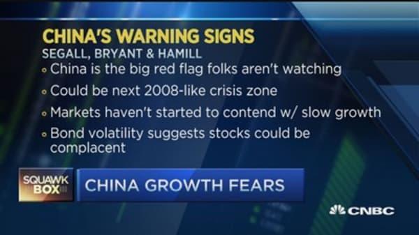 Eyeing China's big red flag