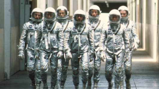 "A scene from the movie ""The Right Stuff."""