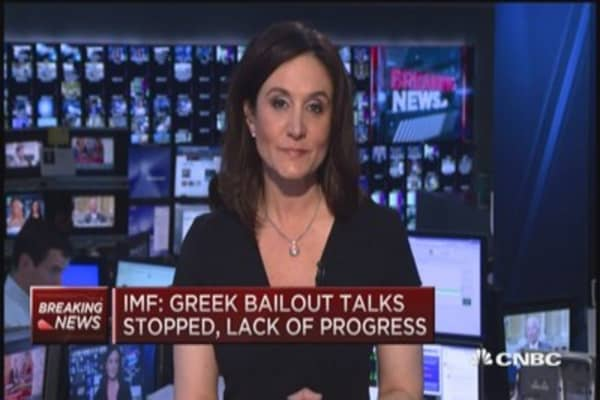 Greek bailout talks stopped: IMF