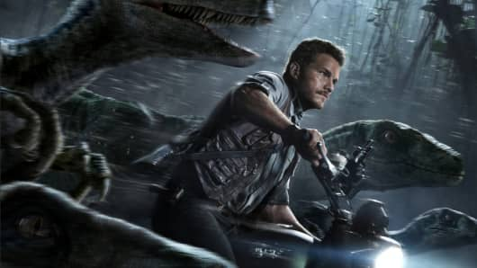 "A still image from the movie ""Jurassic World"""