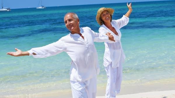 Boomers on beach