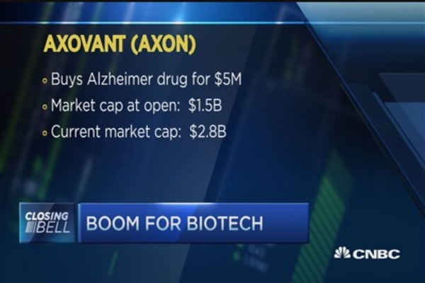 Axovant largest biotech ever