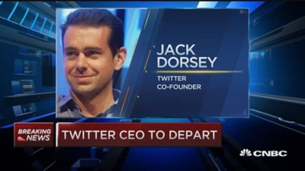 Twitter CEO out; Dorsey steps in as interim