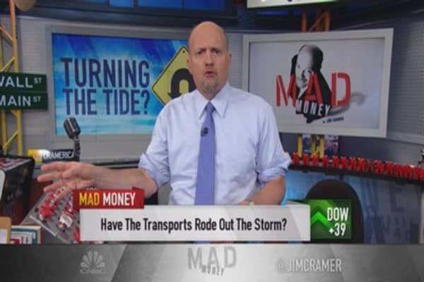 Cramer: Free-fall in transports over