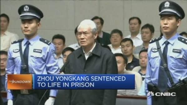 China's ex-security tsar Zhou Yongkang jailed for life