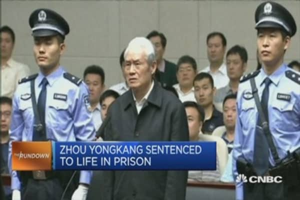 China's ex-security tsar Zhou Yongkang jailed for life