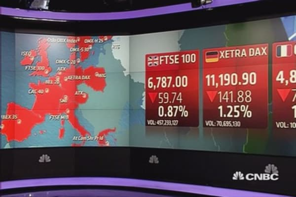 Europe ends lower; Oil, Greece in focus