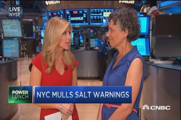 Salt warnings to come in NYC?