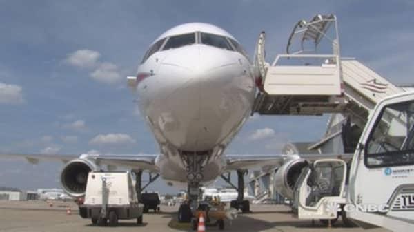 Rare look inside test plane