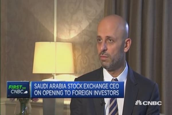 Saudi stock exchange open for business