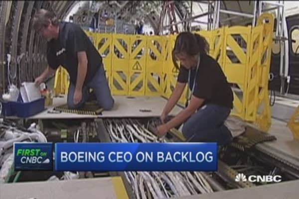 Boeing CEO says 'more to go' on profitability