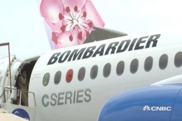 Bombardier takes on Boeing and Airbus