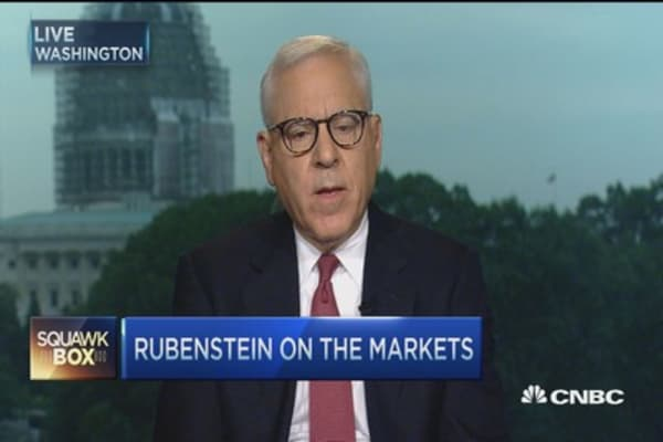 David Rubenstein: US economy in reasonable shape