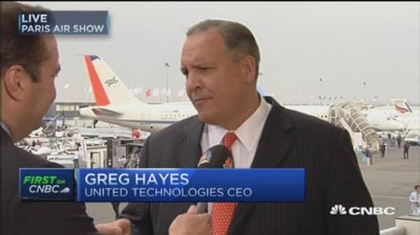United Technologies at Paris Air Show