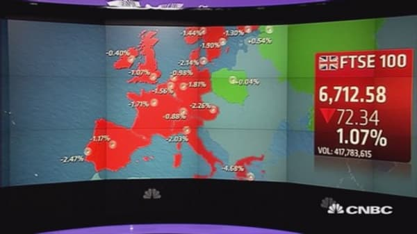 Europe closes lower after Greece talks collapse