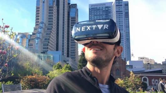 NextVR virtual reality headset