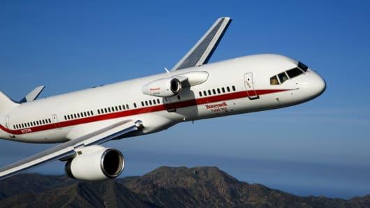 Honeywell's Boeing 757 test plane.