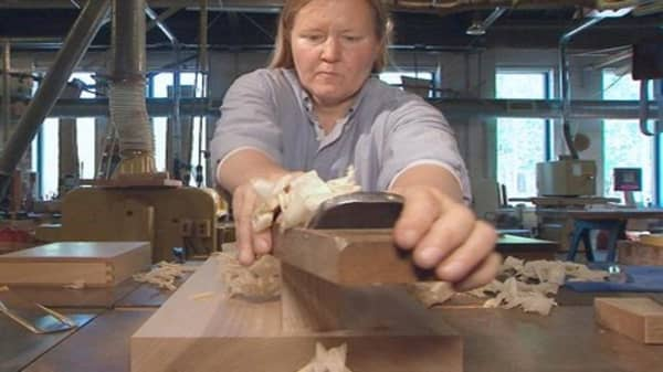 Why one woman left Goldman Sachs for...woodworking?
