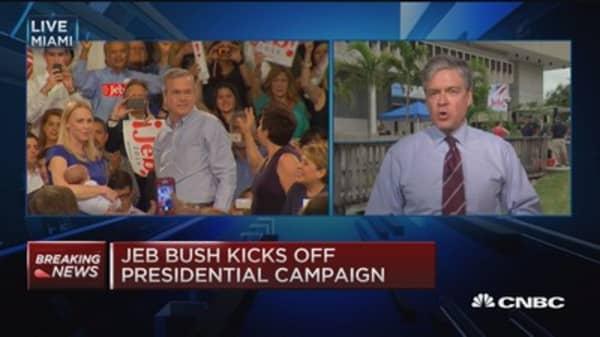 Jeb Bush kicks off presidential campaign