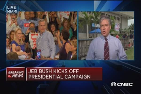 Jeb Bush kicks off presidential campaign