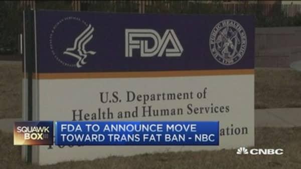 FDA to announce trans fats ban: NBC
