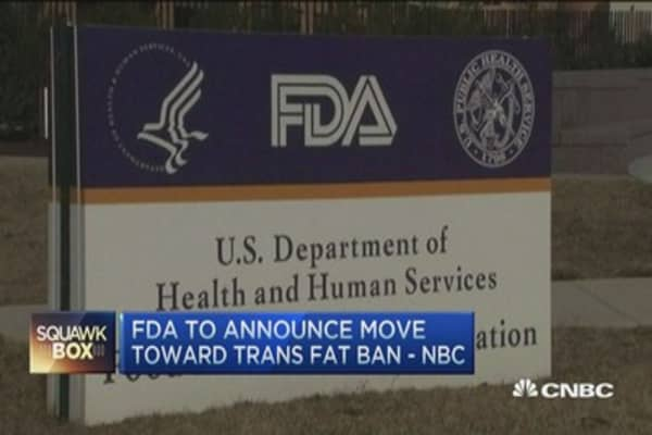FDA to announce trans fats ban: NBC