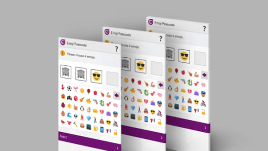 The emoji passcode system from Intelligent Environments
