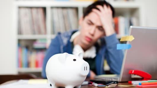 College debt stress