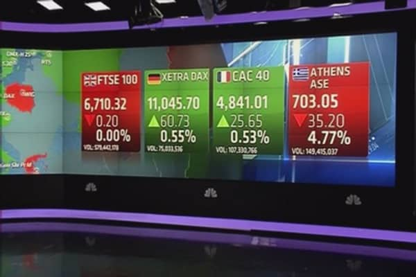 Europe closes higher despite Greek 'emergency'