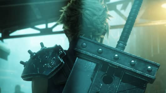 An image from the Final Fantasy VII trailer