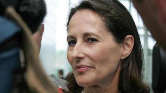 Ségolène Royal, France's minister of Ecology, Sustainable Development and Energy