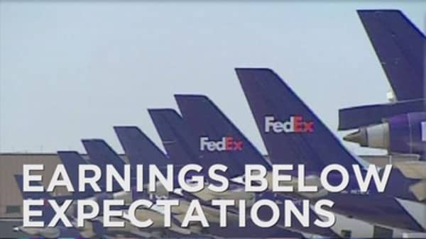 FedEx posts disappointing results