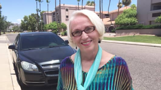 Judith Gordon, an Uber driver in Phoenix, Arizona, is 69 and drives up to 50 hours a week.