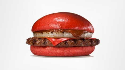 Burger King Japan Red Beef Burger