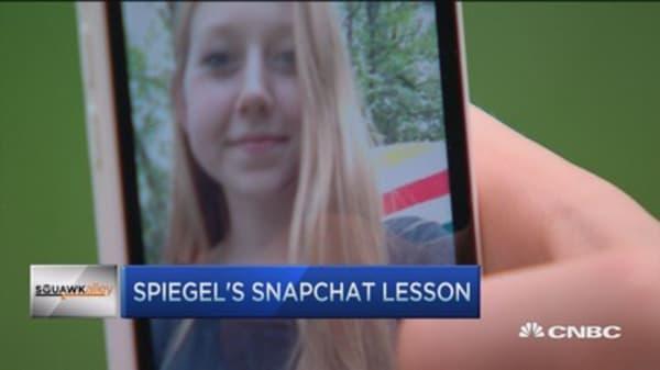 Spiegel's Snapchat lesson