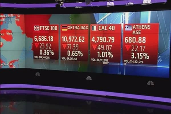 European stocks close lower; central banks eyed