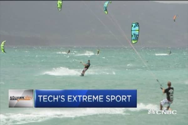Tech's extreme sport: Kiteboarding
