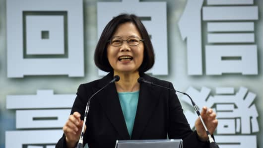 Tsai Ing-wen, chairwoman of Taiwan's main opposition Democratic Progressive Party (DPP).