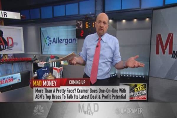 Cramer: New Allergan favorite roll-up in space