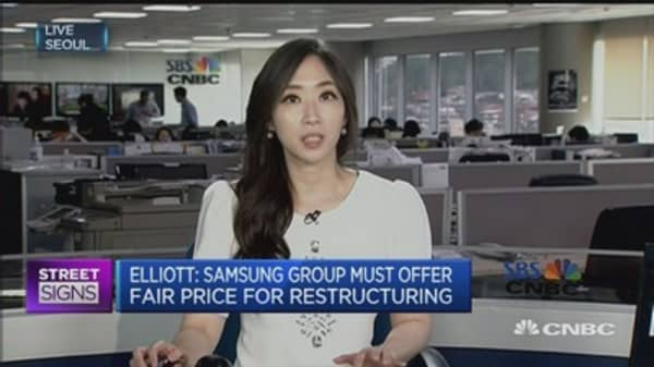 Samsung C&T's merger with Cheil is unfair, says Elliott